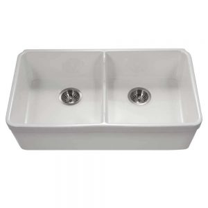 Chelsea Undermount 50/50 Double Bowl with LOW WALL (CHE-3218DLU-WH)