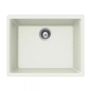 SiOStone Undermount Single Bowl (SiO-2418SU-WH)