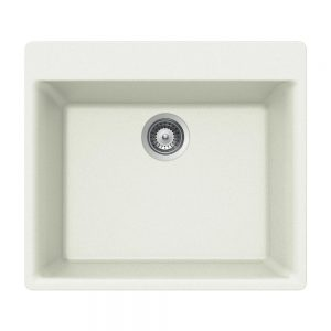 SiOStone Topmount Single Bowl (SiO-2420ST-WH)