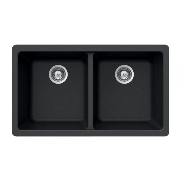 SiOStone Undermount 50/50 Double Bowl (SIO-3319DU-BL)