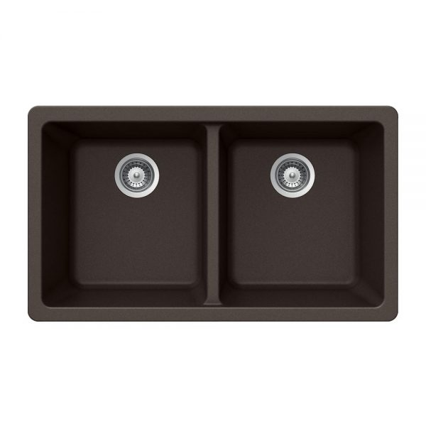 SiOStone Undermount 50/50 Double Bowl (SIO-3319DU-MO)