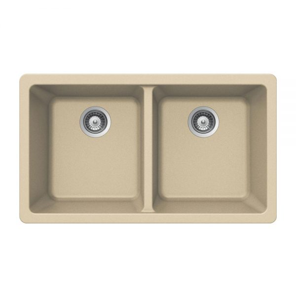 SiOStone Undermount 50/50 Double Bowl (SIO-3319DU-SD)